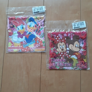 ディズニー(Disney)のディズニー 巾着袋 2枚セット(ランチボックス巾着)