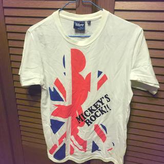 ディズニー(Disney)のディズニー ミッキーマウス ユニオンジャック ROCK ロック 半袖Tシャツ M(Tシャツ/カットソー(半袖/袖なし))