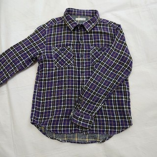 ジーユー(GU)のguキッズチェックシャツ130cm(ブラウス)