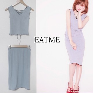 EATME - 【イートミー】セットアップ レースアップカットソー × タイトスカート