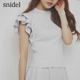 snidel - 【スナイデル】フリル袖 ニット