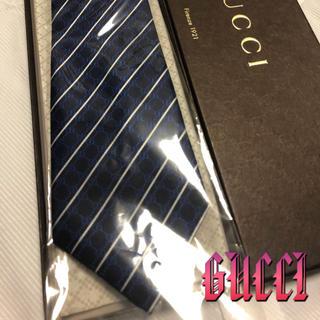 Gucci - グッチ ネクタイ【美品】GUCCI   GGロゴ総柄 ストライプ