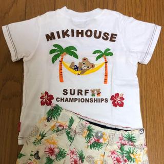 mikihouse - ミキハウス ダブルビー プッチー アロハTシャツ、ビーくん アロハパンツ(90)