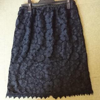 イマージュ(IMAGE)のレーススカート 黒(ひざ丈スカート)