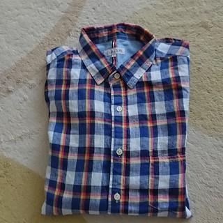 シマムラ(しまむら)のCLOSSHI   麻100% チェックシャツ(シャツ)