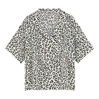 GU  レオパードシャツ