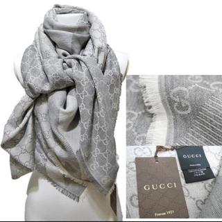 グッチ(Gucci)のグッチ 正規品 GG総柄ストールショール 新品未使用 箱付き❣️(マフラー/ショール)