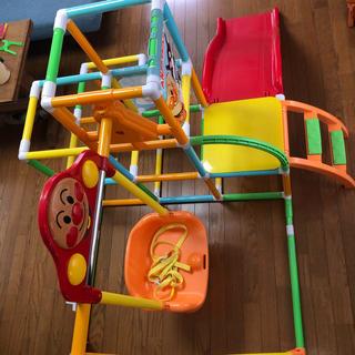 アンパンマン - アンパンマン うちの子天才 カンタン折りたたみ!ブランコパークDX ボール付き