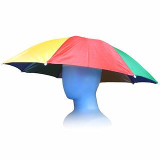 傘帽子 傘 フリーハンド アンブレラ 日避け 釣り 屋外イベント スポーツ観戦(傘)