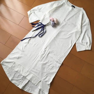 しまむら - 未使用 袖タック Tシャツロングワンピース