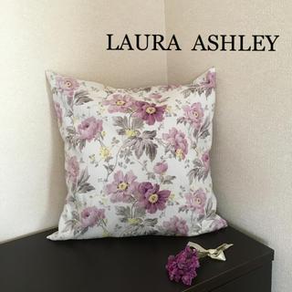 LAURA ASHLEY - ローラアシュレイ クッションカバー 花柄 ハンドメイド キャスキッドソン