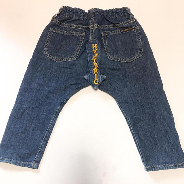 HYSTERIC MINI(ヒステリックミニ)の尻尾デニム キッズ/ベビー/マタニティのベビー服(~85cm)(パンツ)の商品写真