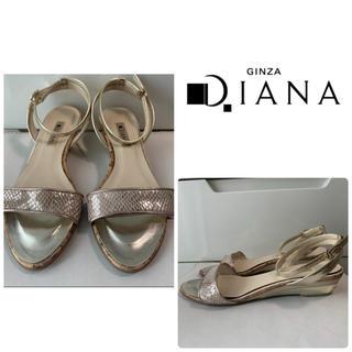 DIANA - ダイアナ ゴールドレザー サンダル