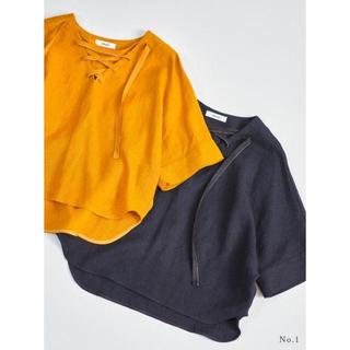 ロンハーマン(Ron Herman)のebure  エブール ネイビーリネンブラウス 1回着用美品(シャツ/ブラウス(半袖/袖なし))
