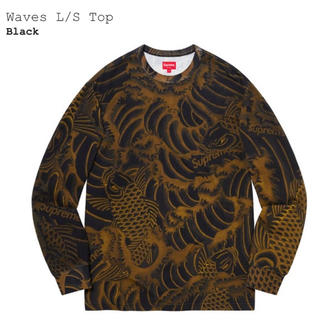 Supreme - Supreme Waves L/S Top Black L 鯉 和柄