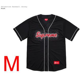 Supreme - supreme  Rhinestone Baseball Jersey Mサイズ