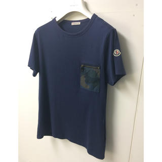 MONCLER - レアモデル❗️MONCLER モンクレール MAGLIA Tシャツ ネイビー S