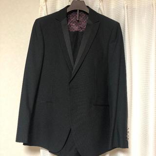 メンズスーツセットアップ 黒 175㎝‐180㎝ Lサイズ(セットアップ)