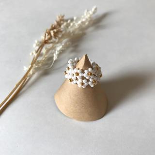 Bonpoint - Margaret bees ring set 〜white perl〜
