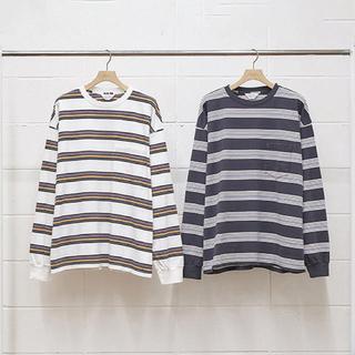 アンユーズド(UNUSED)の即完売 20ss  unused BORDER LS T-SHIRT(Tシャツ/カットソー(七分/長袖))
