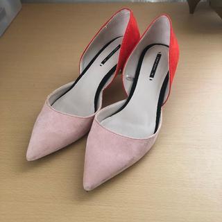 ザラ(ZARA)のZARA ザラレディース靴 5センチヒール 24㎝(ハイヒール/パンプス)