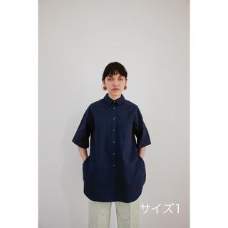 IENA - Clane 2020ss 新作BACK LAYER SHIRTネイビー サイズ1