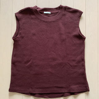 ジーユー(GU)のGU ノースリーブ サマーニット Sサイズ(カットソー(半袖/袖なし))