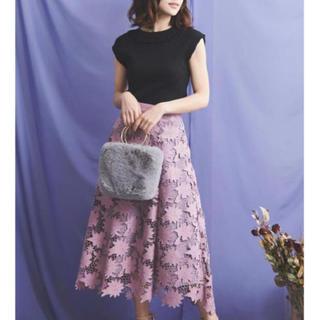 Noela - Noela*スエード刺繍レーススカート