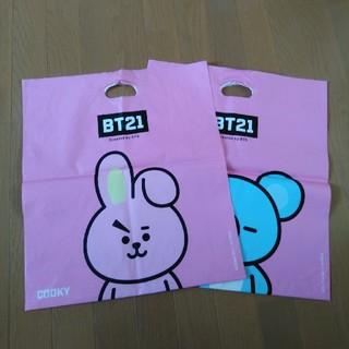 ボウダンショウネンダン(防弾少年団(BTS))のBT21  ショップ袋 COOKY  KOYA  2枚セット(ショップ袋)