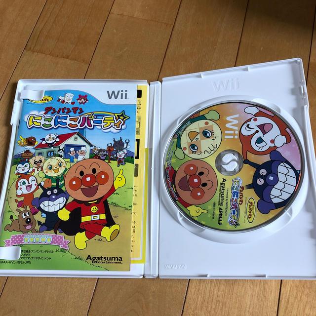 Wii(ウィー)のアンパンマン にこにこパーティ Wii エンタメ/ホビーのゲームソフト/ゲーム機本体(家庭用ゲームソフト)の商品写真
