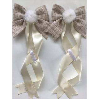 アマベル(Amavel)のLotus ribbon クリーム(バレッタ/ヘアクリップ)