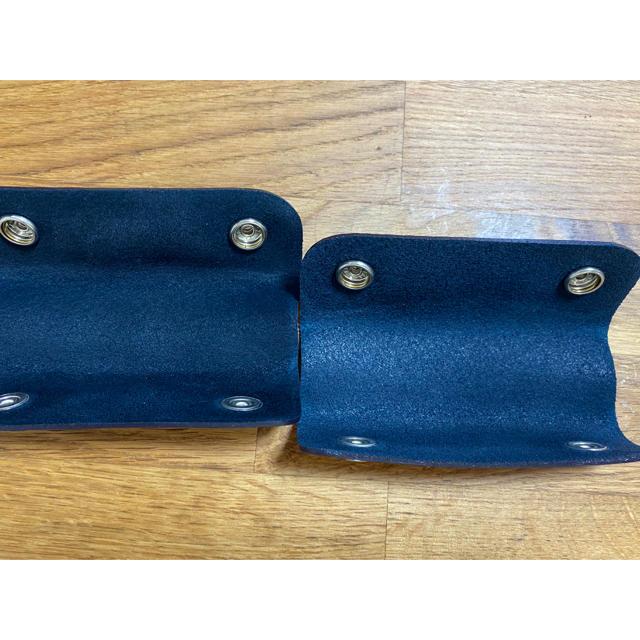 Herve Chapelier(エルベシャプリエ)の《ほぼ未使用》クロード元町 ハンドルカバー 2つセット ネイビー  バッグ レディースのバッグ(ハンドバッグ)の商品写真