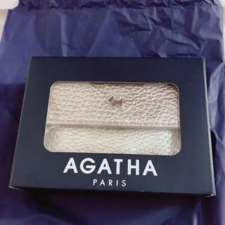 アガタ(AGATHA)の新品agatha ミニウォレット ゴールド牛革(財布)