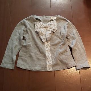 ユナイテッドアローズ(UNITED ARROWS)のユナイテッドアローズ グリーンレーベルリラクシン子供服 フロントリボントレーナー(Tシャツ/カットソー)