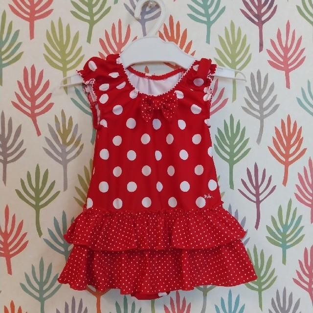 mikihouse(ミキハウス)のミキハウス水玉水着80センチ キッズ/ベビー/マタニティのベビー服(~85cm)(水着)の商品写真