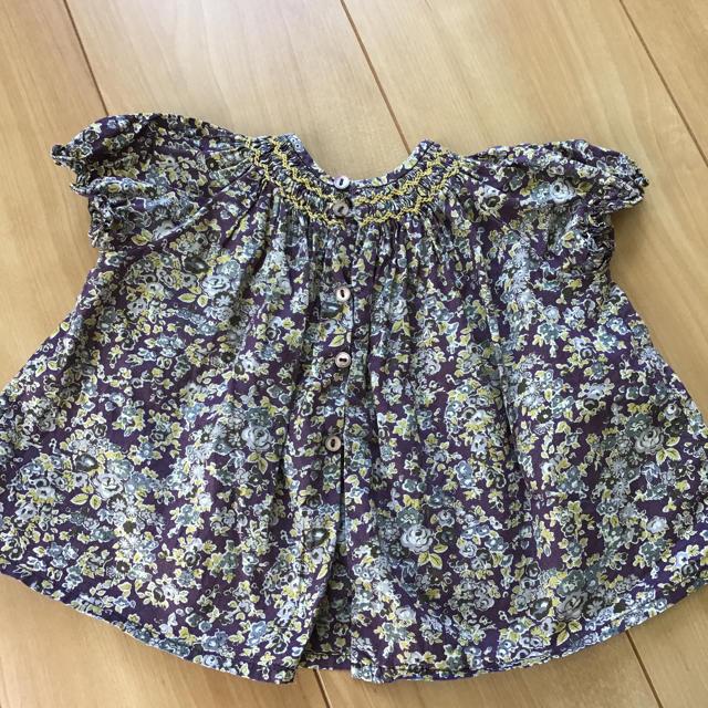 Bonpoint(ボンポワン)のポンポワン    スモッキングチュニック 値下げ キッズ/ベビー/マタニティのベビー服(~85cm)(ワンピース)の商品写真