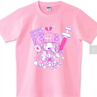 エーシーディーシーラグ(ACDC RAG)の江崎びす子 メンヘラチャン Tシャツ(Tシャツ(半袖/袖なし))