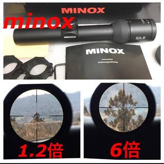 実物 minox ZV5 1.2-6×24 ライフル ショートスコープ スナイパ(モデルガン)