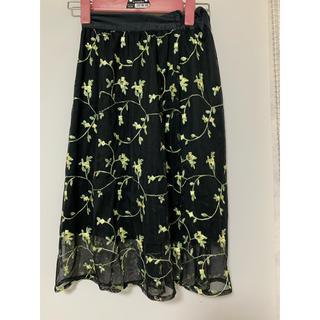 ジーユー(GU)の子供用(140センチ)レーススカート(スカート)