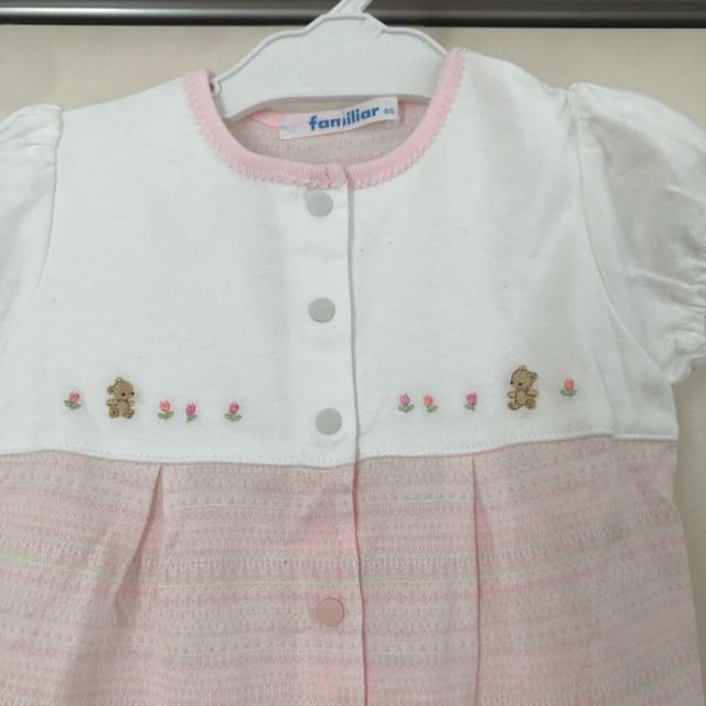 familiar(ファミリア)の新品★ロンパース80 キッズ/ベビー/マタニティのベビー服(~85cm)(ロンパース)の商品写真