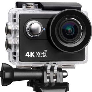 4Kアクションカメラ ウェアラブルカメラ高画質 WiFi 防水☆ スポーツカメラ(ビデオカメラ)