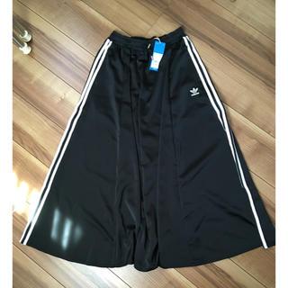 adidas - アディダス ロング スカート Mサイズ ブラック
