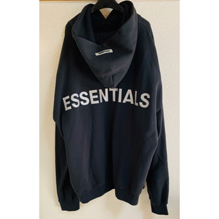 FEAR OF GOD - FOG ESSENTIALS REFLECTOR LOGO HOODIE