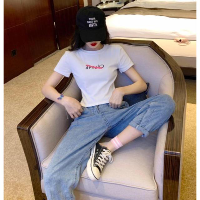ZARA(ザラ)のロゴ消し Tシャツ レディースのトップス(Tシャツ(半袖/袖なし))の商品写真