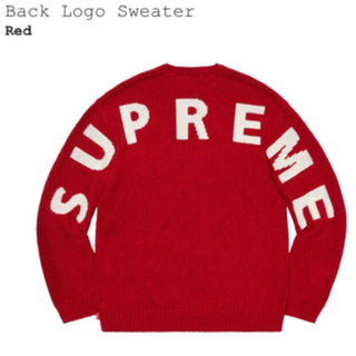 Supreme - Supreme 20ss Back Logo Sweater Red M