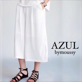 アズールバイマウジー(AZUL by moussy)のAZUL by moussy サイドスリット クロップド ワイドパンツエモダ♡(カジュアルパンツ)
