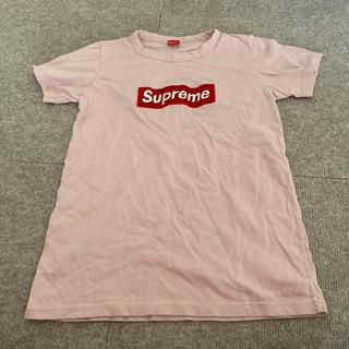 シュプリーム(Supreme)のピンク刺繍シャツ(Tシャツ(半袖/袖なし))