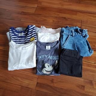 ジーユー(GU)の女の子 120セット(Tシャツ/カットソー)