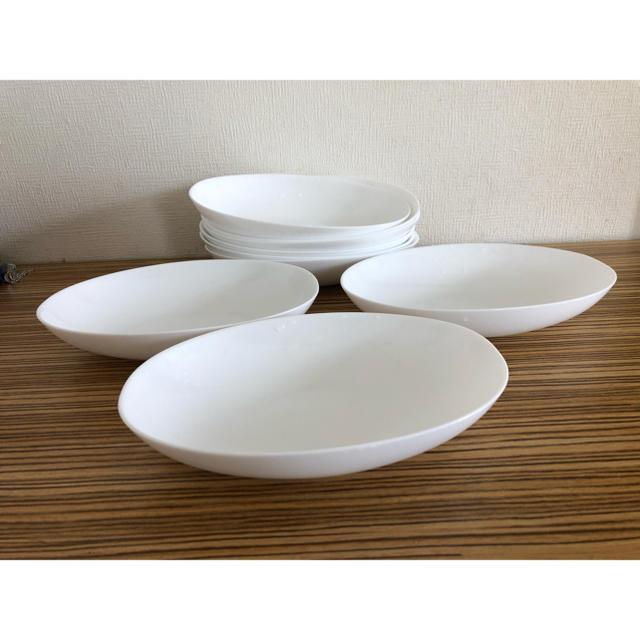 山崎製パン(ヤマザキセイパン)のまさかの9枚セット 白皿 シンプルお皿  インテリア/住まい/日用品のキッチン/食器(食器)の商品写真
