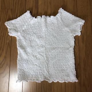 ジーユー(GU)のGU トップス ショート丈 M(Tシャツ(半袖/袖なし))